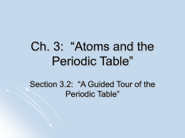 "Ch. 3: ""Atoms and the Periodic Table"""