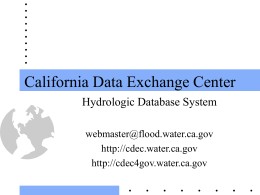 California Data Exchange Center