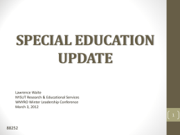 special education update - American Federation of Teachers