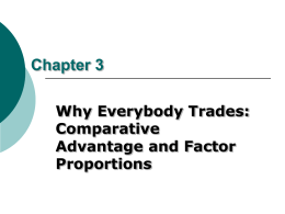 Comparative Advantage and Economic Growth