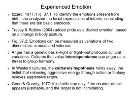 Module 37 Experienced Emotion