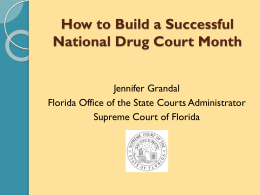 National Drug Court Month Florida