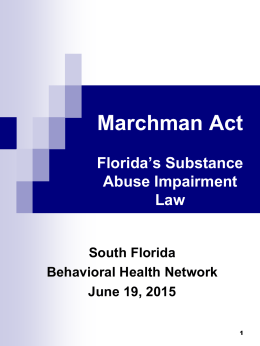 Miami Dade 2015 - South Florida Behavioral Health Network