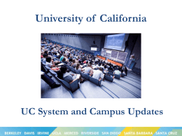 UC TAP - University of California