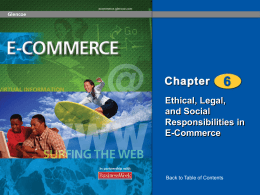 Ethical, Legal, and Social Responsibilities in E