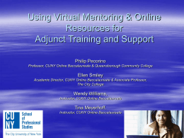 Virtual Mentors - Queensborough Community College