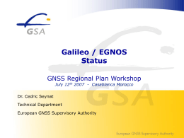 Introducing the European GNSS Supervisory Authority