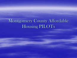 Montgomery County Affordable Housing PILOTs