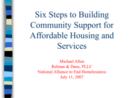 Six Steps to Building Community Support for Affordable Housing