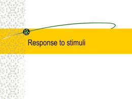 18.1 Response to stimuli