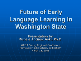 Future of Early Language Learning in Washington