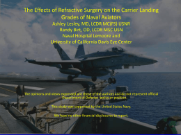The Effect of Refractive Surgery on the Carrier Landing Grades of