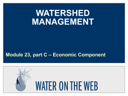 PPT - Water on the Web