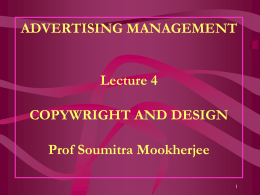 Adv Copy Design - Management Events