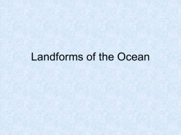 Landforms of the Ocean Powerpoint