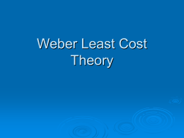 Weber Least Cost Theory