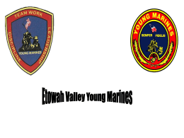 Day - 4 Recruit Training - Etowah Valley Young Marines