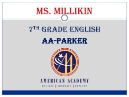 6th Grade English - American Academy