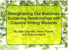 Strengthening Our Branches: Sustaining Relationships with