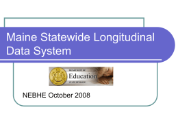 Maine Education Data Management System