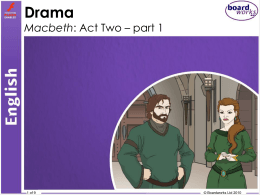 Macbeth Act 2 Part 1