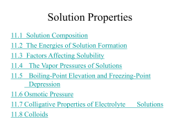 Chapter 11 – Properties of Solutions