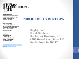 public employment law april 23, 2014