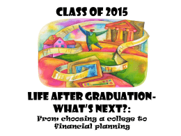 Senior Presentation 2014-2015