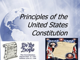 Principles of Limited Government Continued