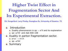 Higher twist effects in
