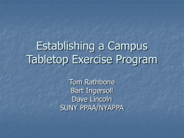 Establishing a Campus Tabletop Exercise Program