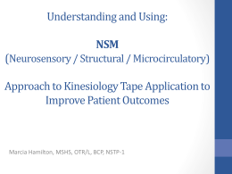 WS-17 Understanding and applying kinesiology tape using the