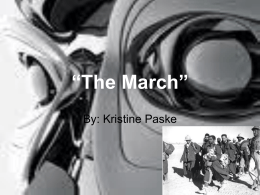 The March - krantzenglish