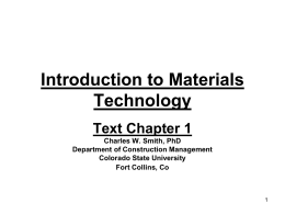 Introduction to Materials Technology