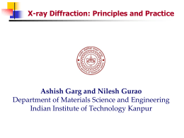 Materials Characterization Using X-ray Diffraction