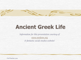 Ancient Greek Life