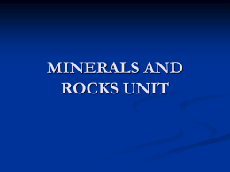 minerals and rocks1