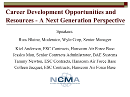 Session 4 - Course 26 - NCMA Career Development Opportunities