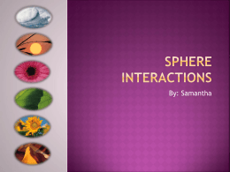 Sphere Interactions