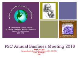 2016 - Papanicolaou Society of Cytopathology