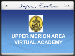 Did You Know? - Upper Merion Area School District