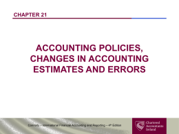 Changes in Accounting Policies - Chartered Accountants Ireland