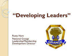 Developing Leaders - The Washington State Grange
