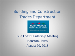 Building and Construction Trades Department, AFL-CIO