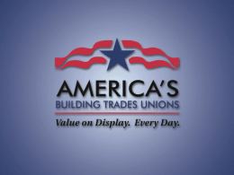 The US Construction Industry - Building and Construction Trades