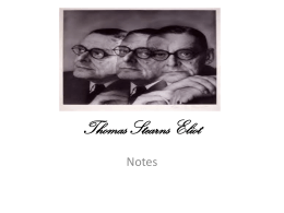 Thomas Stearns Eliot - Giuseppeveronese.it