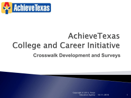 AchieveTexas Surveys-