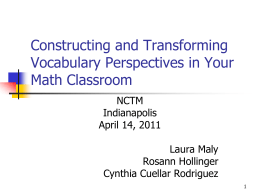 Building Academic Vocabulary in the High School Classroom