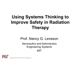 Using Systems Thinking to Improve Safety in