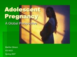 Adolescent Pregnancy: HS 6423